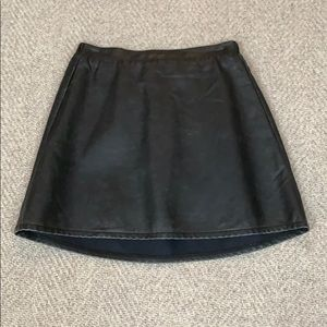 Billabong woman's faux leather skirt